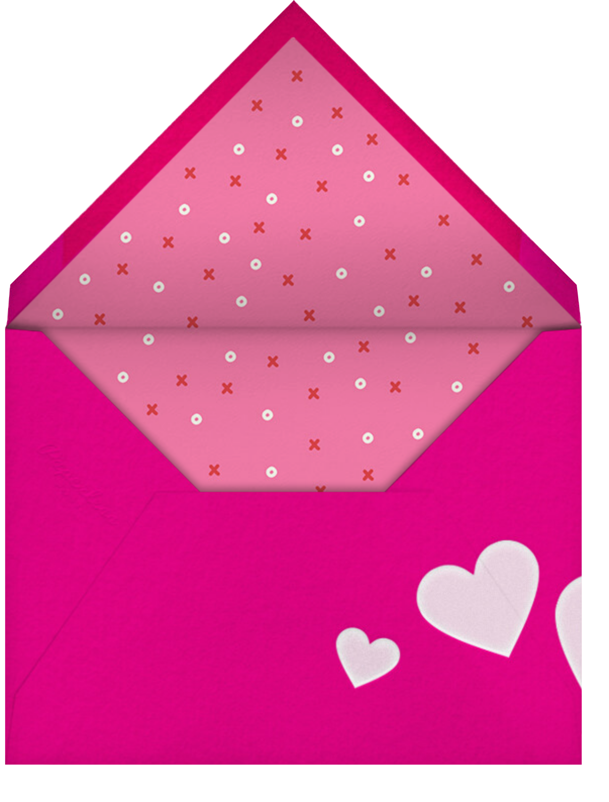 Valentine Jumble - Paperless Post - Valentine's Day - envelope back