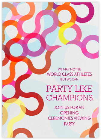 Abstract Rings - Brights - Paperless Post - Get-together invitations