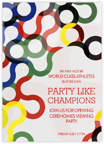Abstract Rings - Darks - Paperless Post - Sporting Event Invitations