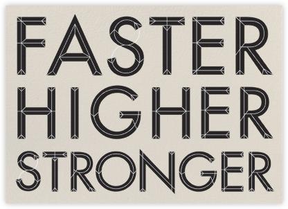 Faster, Higher, Stronger - Santa Fe - Paperless Post -
