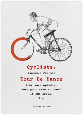 Vintage Cyclist - Paperless Post - Sporting event invitations
