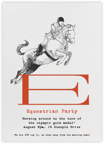 Equestrian Athlete - Paperless Post - Sporting event invitations