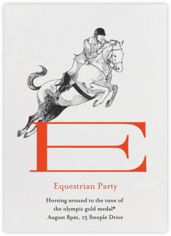 Equestrian Athlete - Paperless Post - Invitations