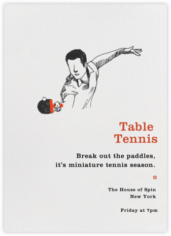Table Tennis - Paperless Post - Invitations