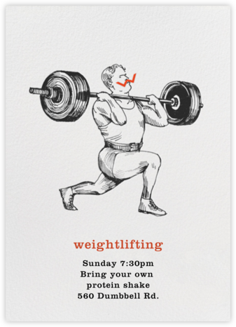 Weightlifter - Paperless Post - Online Party Invitations