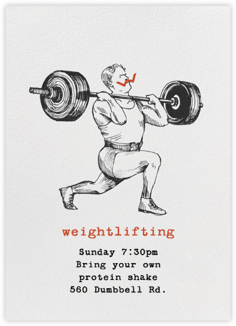 Weightlifter - Paperless Post - Get-together invitations