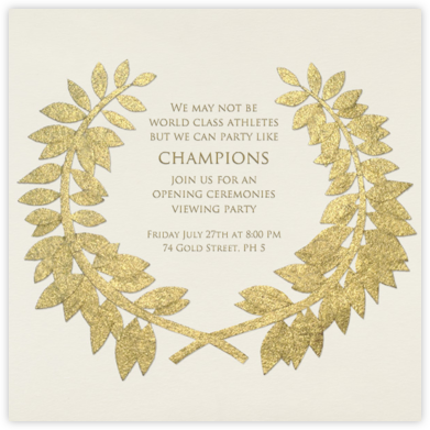 Gold Wreath - Paperless Post - Sporting Event Invitations