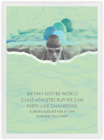 The Swimmer - Paperless Post - Invitations