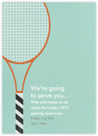 Tennis Racquet - Paperless Post - Sporting Event Invitations