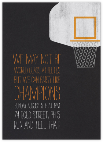 Basketball Hoop - Paperless Post - Invitations