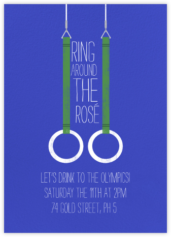 Gymnastic Rings - Universe - Paperless Post - Sporting Event Invitations