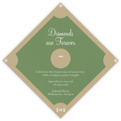 Baseball Diamond - Paperless Post - Sporting Event Invitations