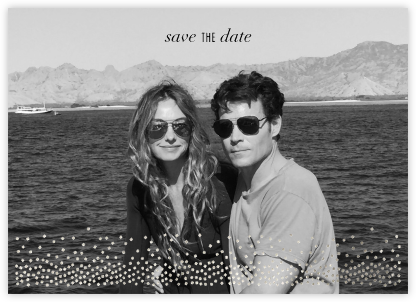 Jubilee (Photo Save the Date) - Silver - Kelly Wearstler - Save the dates