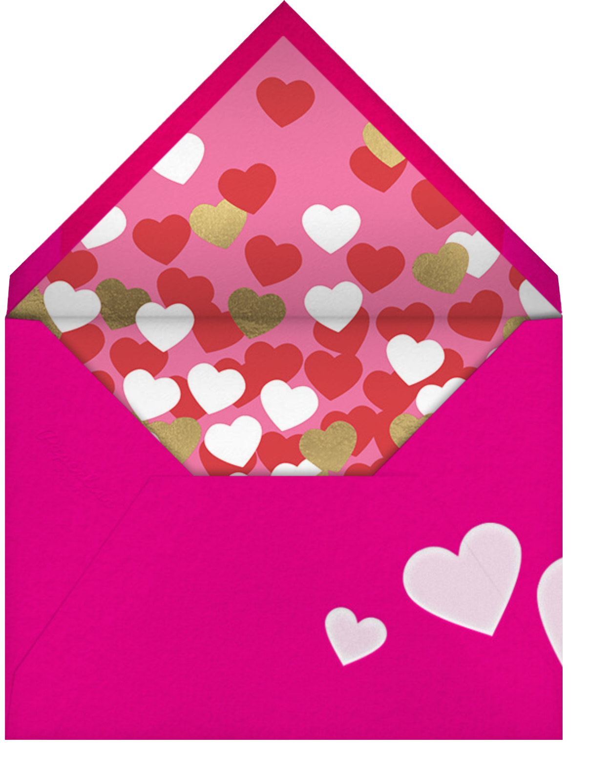What's My Line? - Paperless Post - Valentine's Day - envelope back
