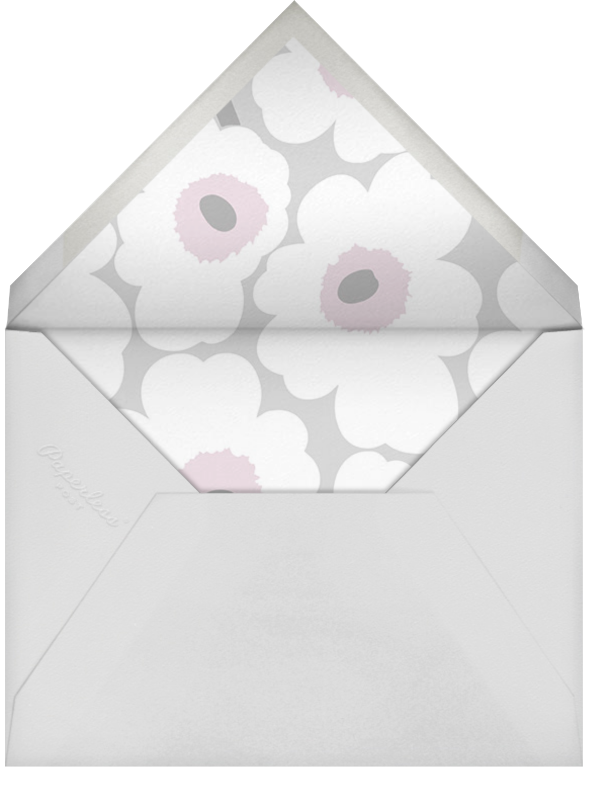 Unikko (Horizontal) - Gray - Marimekko - Bridal shower - envelope back