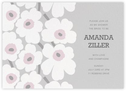 Unikko (Horizontal) - Gray - Marimekko - Bridal shower invitations