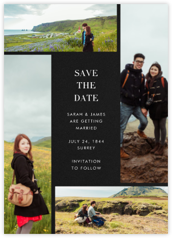 Quad - Black - Paperless Post - Save the date cards and templates