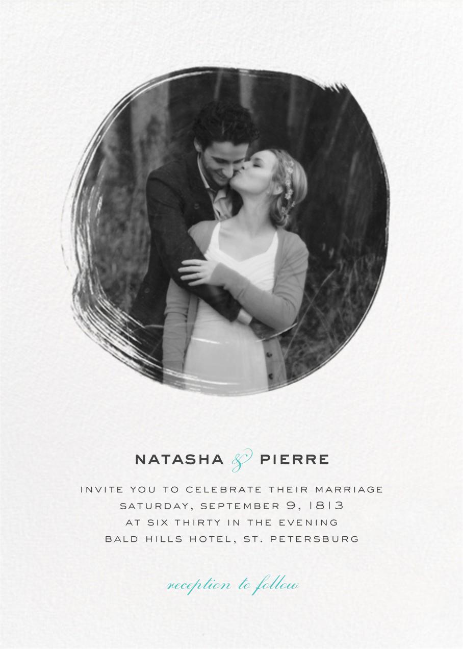 Painted Circle (Invitation) - White - Paperless Post - Wedding invitations