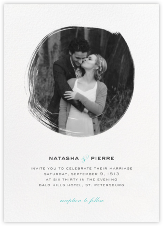 Painted Circle (Invitation) - White - Paperless Post - Modern wedding invitations
