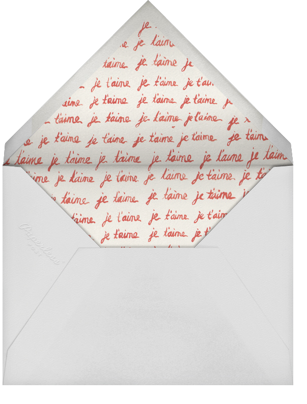 Mustache Love - Paperless Post - Anniversary cards - envelope back