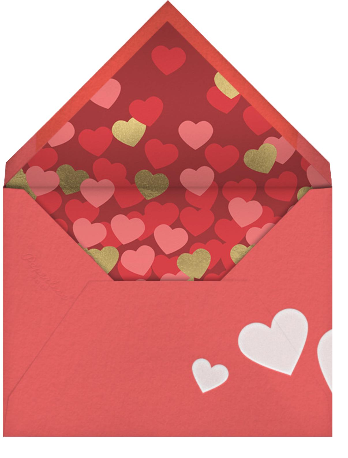 Mustache Love - Paperless Post - Valentine's Day - envelope back