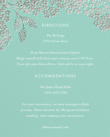 Heather and Lace (Invitation) - Celadon/Silver - Rifle Paper Co. - All - insert front