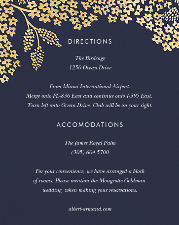 Heather and Lace (Invitation) - Navy/Gold - Rifle Paper Co. - All - insert front