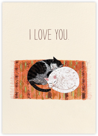 Cat Cuddle (Becca Stadtlander) - Red Cap Cards - Valentine's Day Cards