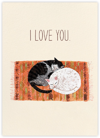 Cat Cuddle (Becca Stadtlander) - Red Cap Cards - Online greeting cards