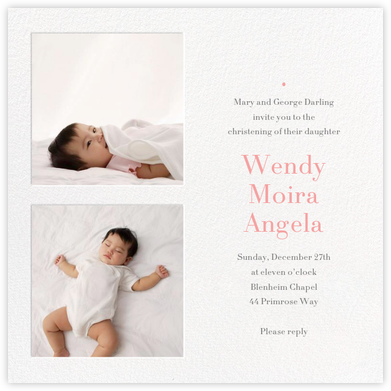 Twin Squares - Christening - Paperless Post - Christening Invitations