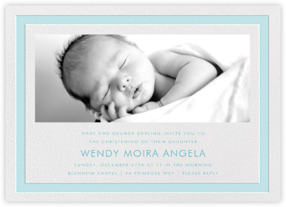 Bandwidth - Light Blue - Paperless Post - Baptism invitations