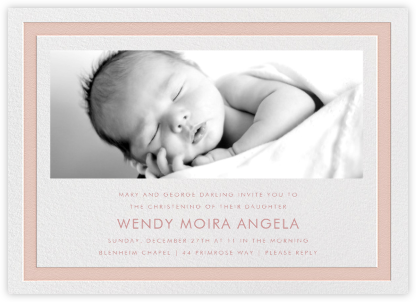 Bandwidth - Antique Pink - Paperless Post - Christening Invitations