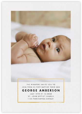Placard - Gold - Paperless Post - Christening Invitations