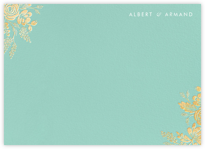 Heather and Lace (Stationery) - Celadon/Gold | null