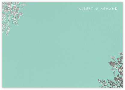 Heather and Lace (Stationery) - Celadon/Silver | null