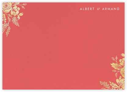 Heather and Lace (Stationery) - Coral/Gold | null