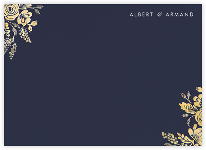 Heather and Lace (Stationery) - Navy/Gold | null