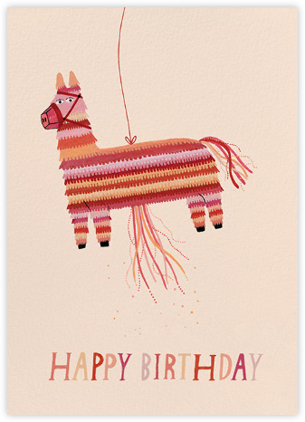 Donkey Pinata (Yelena Bryksenkova) - Red Cap Cards - Birthday Cards