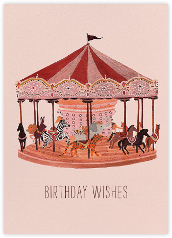 Carousel Wishes (Becca Stadtlander) - Red Cap Cards - Birthday cards