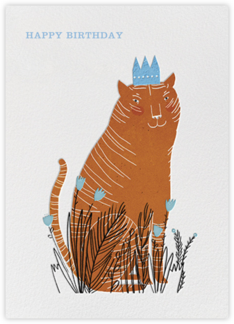 King Cat (Lizzy Stewart) - Red Cap Cards - Birthday Cards for Him