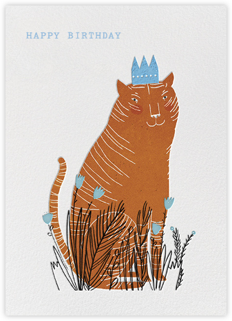 King Cat (Lizzy Stewart) - Red Cap Cards - Red Cap Cards