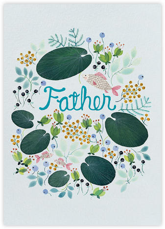 Under Water Father (Anna Emilia Laitinen) - Red Cap Cards - Father's Day Cards