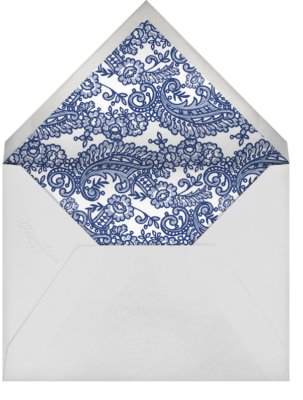 Filigree Lace (Square) - Navy - Oscar de la Renta - Anniversary party - envelope back
