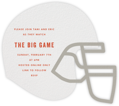 Helmet Head - Paperless Post - Sporting Event Invitations