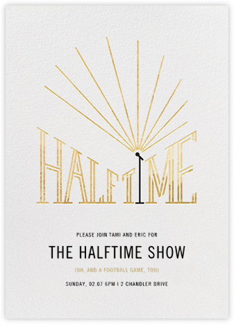 The Halftime Show - Paperless Post - Sporting Event Invitations