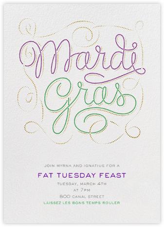 Bead It - Ivory - Paperless Post - Mardi Gras invitations
