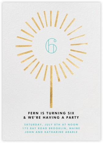 Year of the Sparkler - Gold/Ivory - Paperless Post - Invitations