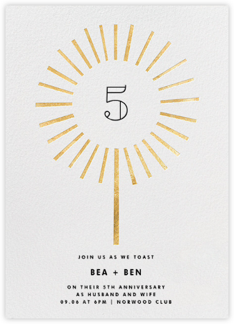 Year of the Sparkler - Gold/White - Paperless Post - Online Party Invitations