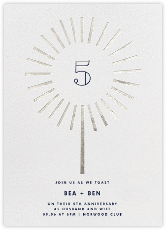 Year of the Sparkler - Silver/Ivory - Paperless Post