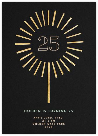 Year of the Sparkler - Gold/Black - Paperless Post - Milestone Birthday Invitations